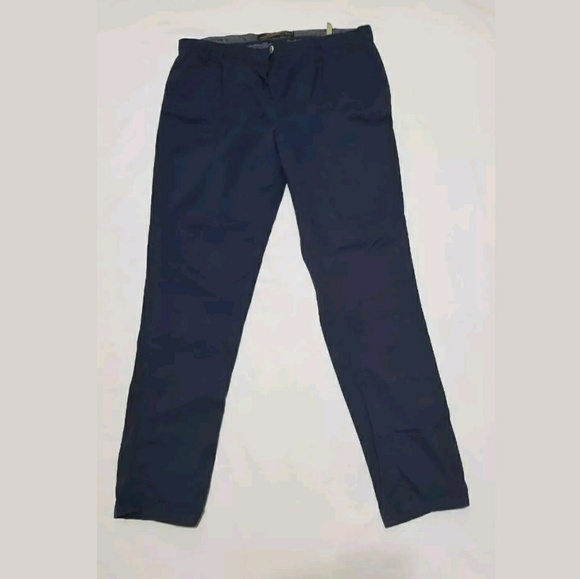 ea19f4f8 Zara Pants | Dress 10 Navy Blue Chico Slim Women | Poshmark